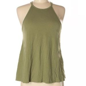 Hollister Green High Neck Tank Top